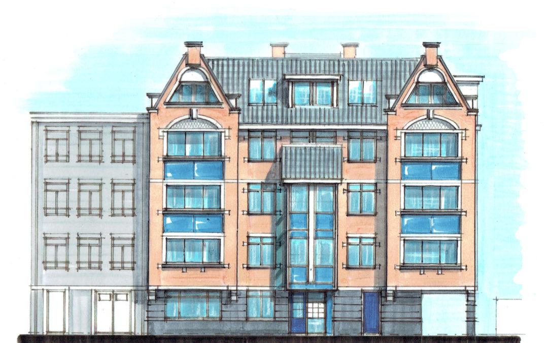 Appartementencomplex in klassieke stijl