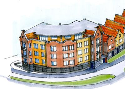 Studie van appartementen te Gronau, Noordrijn-Westfalen, Duitsland